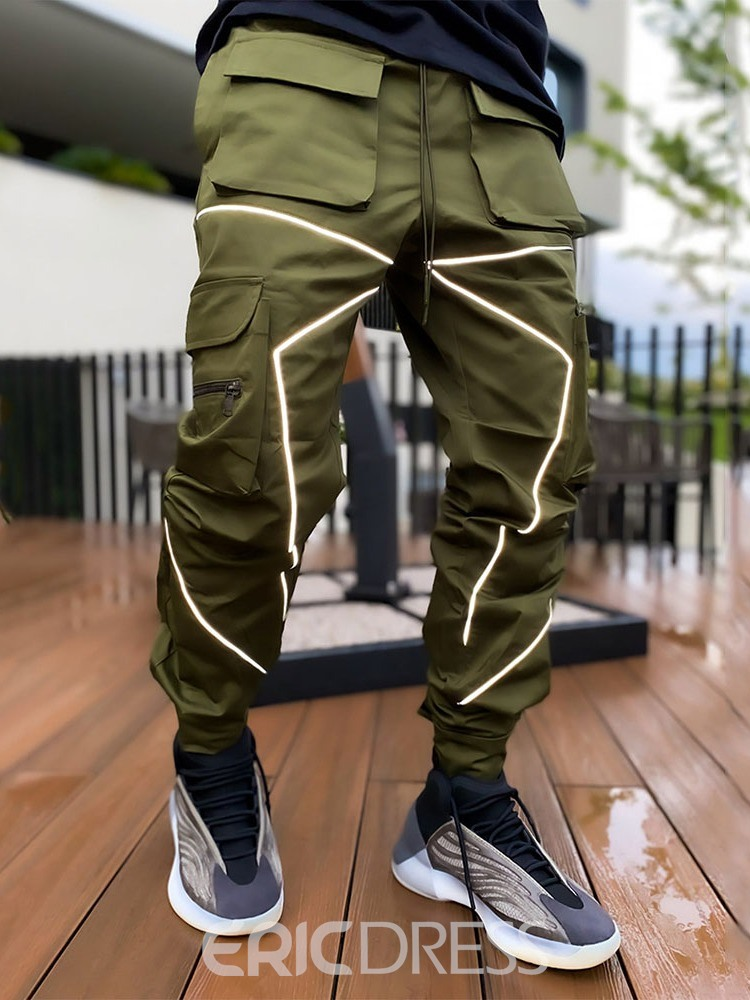 Ericdress Color Block Patchwork Fall Lace-Up Casual Men's Pants