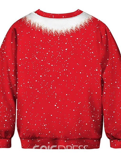 Ericdress Christmas Print Pullover Fall Round Neck Hoodies