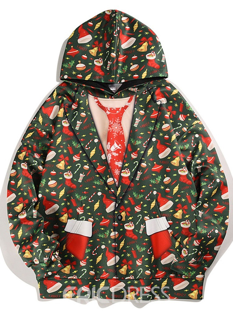 Ericdress Print Pullover Hooded Pullover Hoodies