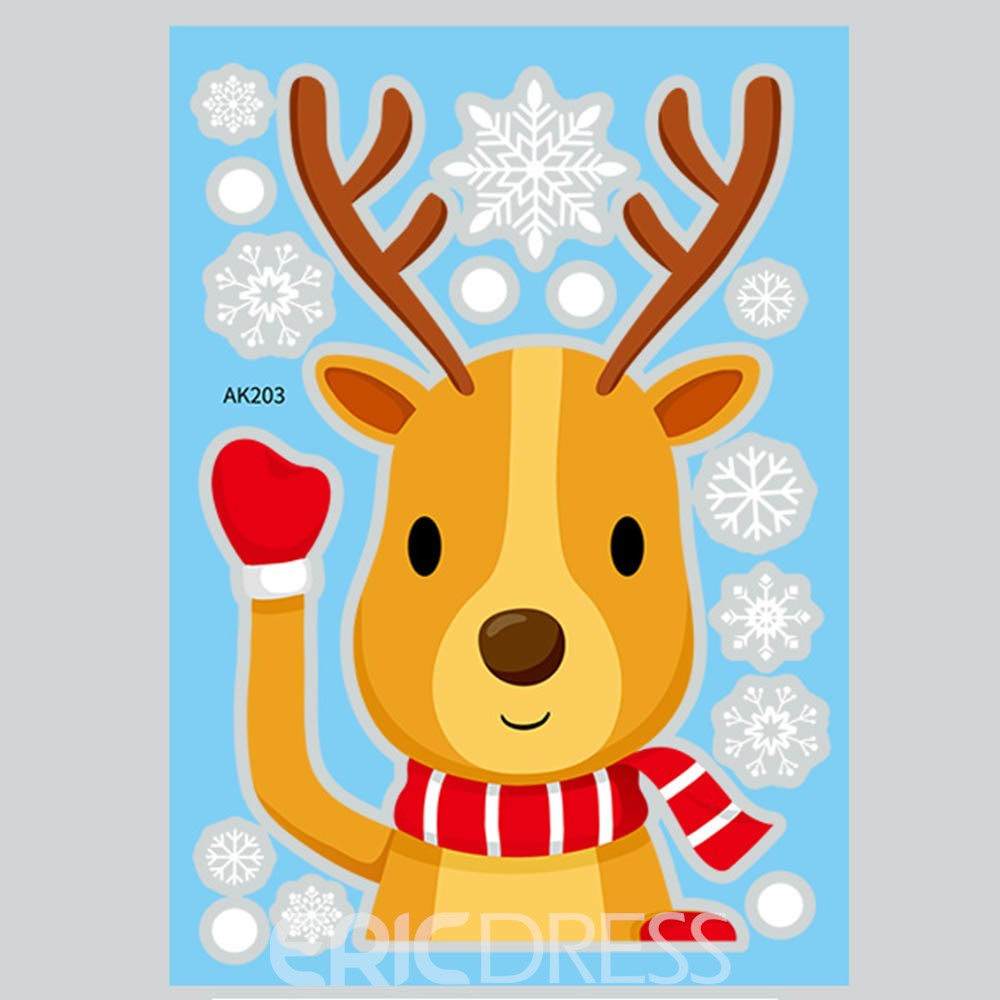 Ericdress Christmas Cartoon Creative Wall Stickers / Wall Decorations