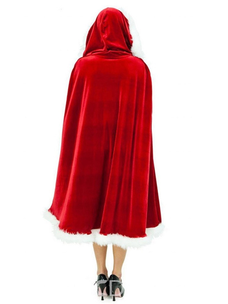 Ericdress Thick Pleuche Party/Cocktail Christmas Cape