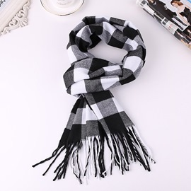 Ericdress Fashion Scarf Plaid Men's Slim Scarves