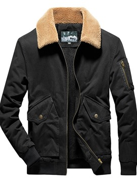 Ericdress Zipper Plain Fleece Zipper Winter Jacket