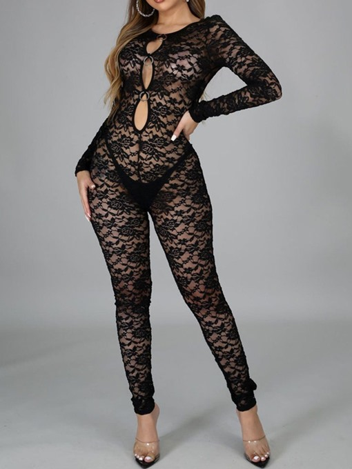 Ericdress Western Hollow Ankle Length Pencil Pants Skinny Jumpsuit