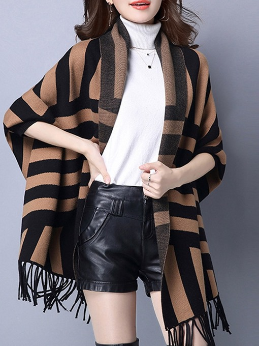 Ericdress Acrylic Vintage Color Block Fall Cape