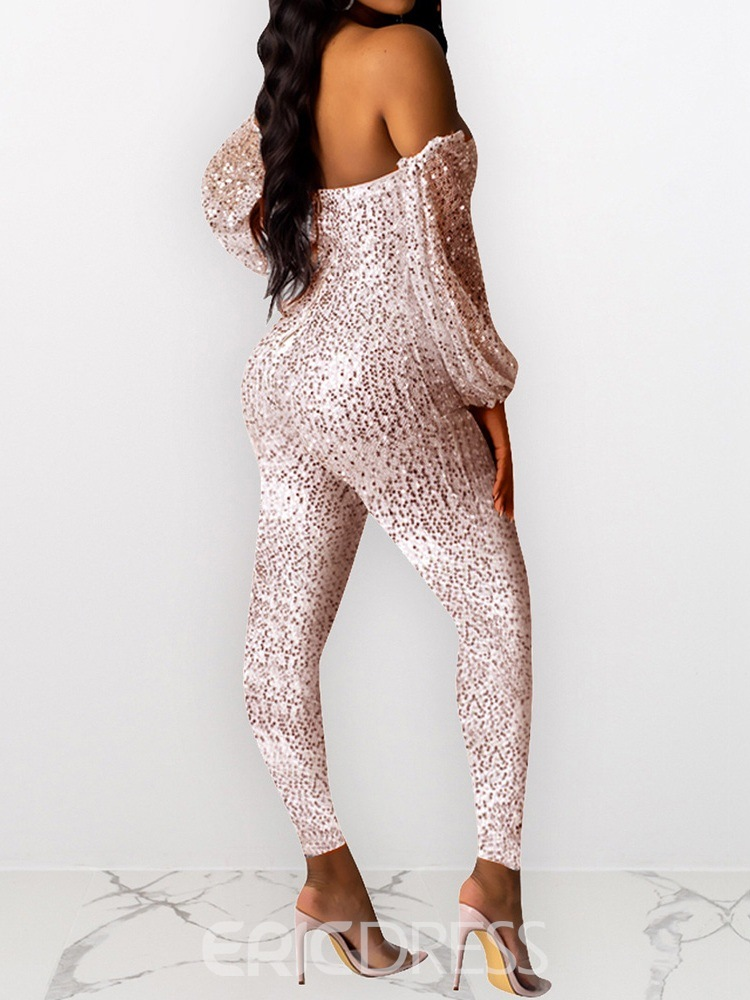 Ericdress Ankle Length Sequins Pencil Pants Skinny Jumpsuit