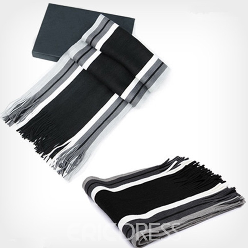 Ericdress Cashmere Tassel Color Block Scarves