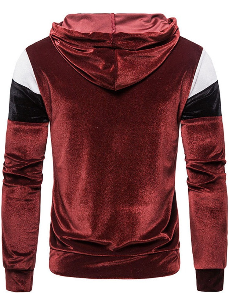 Ericdress Patchwork Pullover Color Block Pullover Casual Hoodies