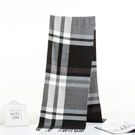 Ericdress Scarf Imitation Cashmere Color Block Lattice Scarves
