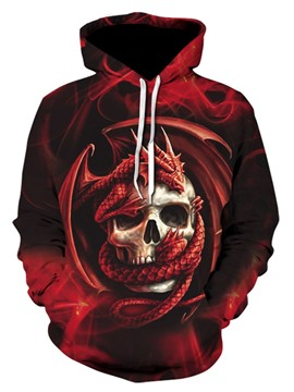 Ericdress Pullover Print Skull Casual Hoodies