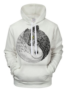 Ericdress Print Pullover Fall Loose Men's Slim Hoodies