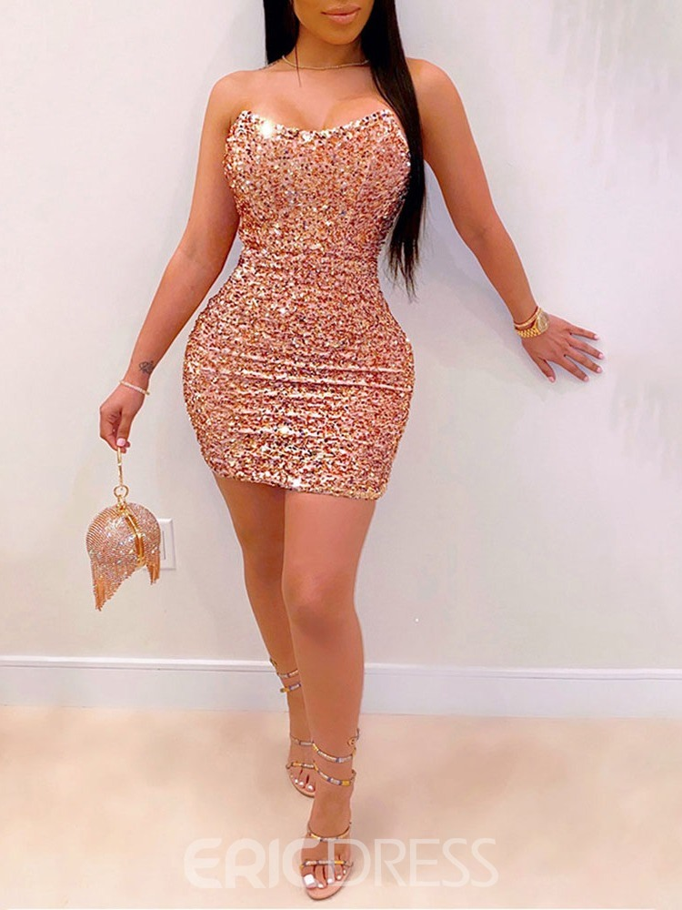 Ericdress Sequins Above Knee Sleeveless Party/Cocktail Dress