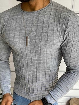 Ericdress Round Neck Plain Standard Men's European Sweater