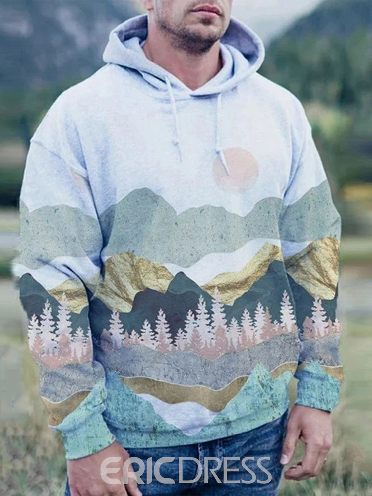 Ericdress Pullover Print Fall Loose Men's Hoodies