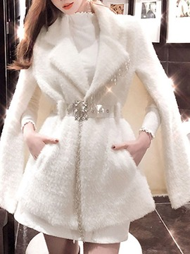 Ericdress Tassel Cape Winter Mid-Length Overcoat