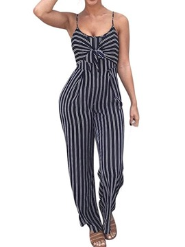Ericdress Casual Patchwork Full Length Straight Slim Jumpsuit