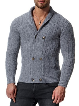 Ericdress Standard Lapel Button Men's Slim Fall Sweater