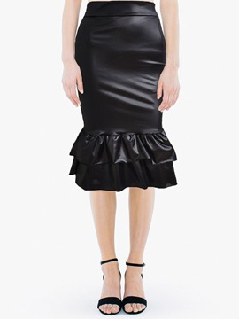 Ericdress Plain Mermaid Mid-Calf Fashion Skirt