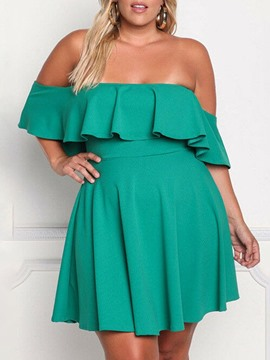 Ericdress Off Shoulder Half Sleeve Above Knee Summer Party/Cocktail Dress