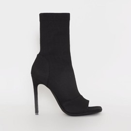 Ericdress Open Toe Side Zipper Plain Banquet Boots