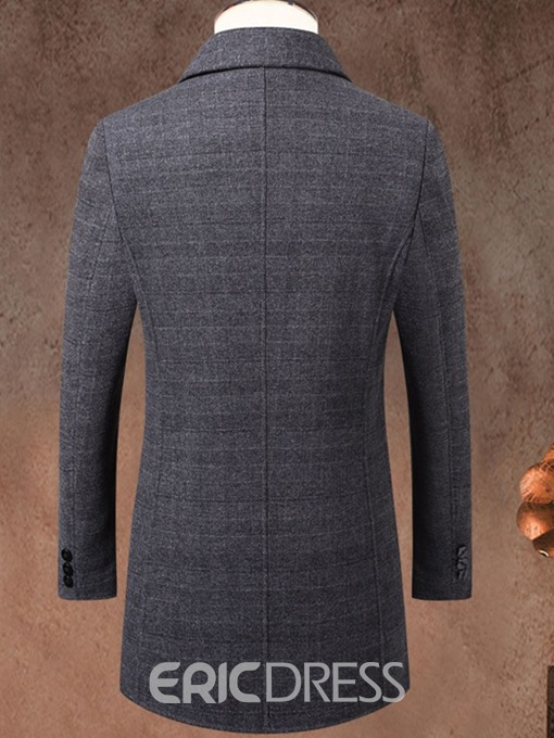 Ericdress Standard Mandarin Collar Single-Breasted Men's Coat