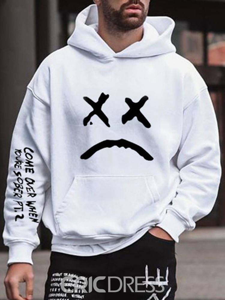 Ericdress Pullover Print Letter Pullover Hooded Hoodies