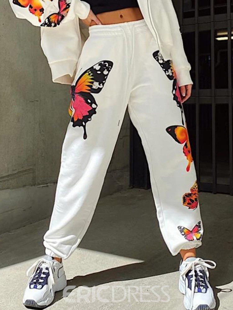 Ericdress Loose Lace-Up Animal Ankle Length Pencil Pants Casual Pants