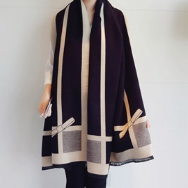 Ericdress Ladylike Tassel Color Block Scarves