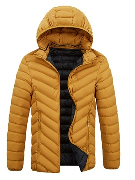 Ericdress Hooded Plain Standard Zipper Casual Men's Down Jacket