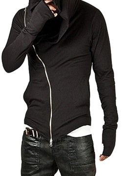 Ericdress Plain Asymmetric Cardigan Zipper Hoodies