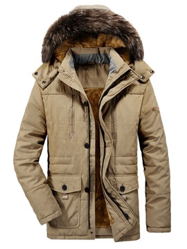 Ericdress Standard Stand Collar Pocket Zipper European Men's Down Jacket