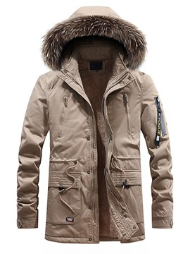 Ericdress Mid-Length Letter Stand Collar European Men's Down Jacket