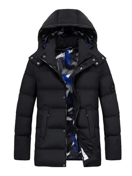 Ericdress Standard Stand Collar Appliques Casual Zipper Men's Down Jacket