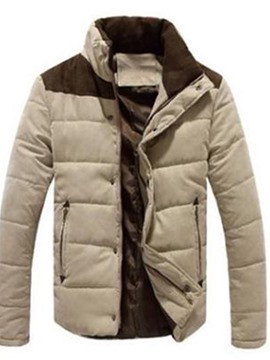 Ericdress Color Block Patchwork Standard Casual Men's Down Jacket