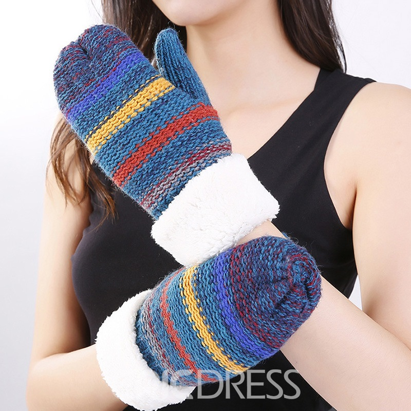 Ericdress Fashion Color Block Winter Gloves