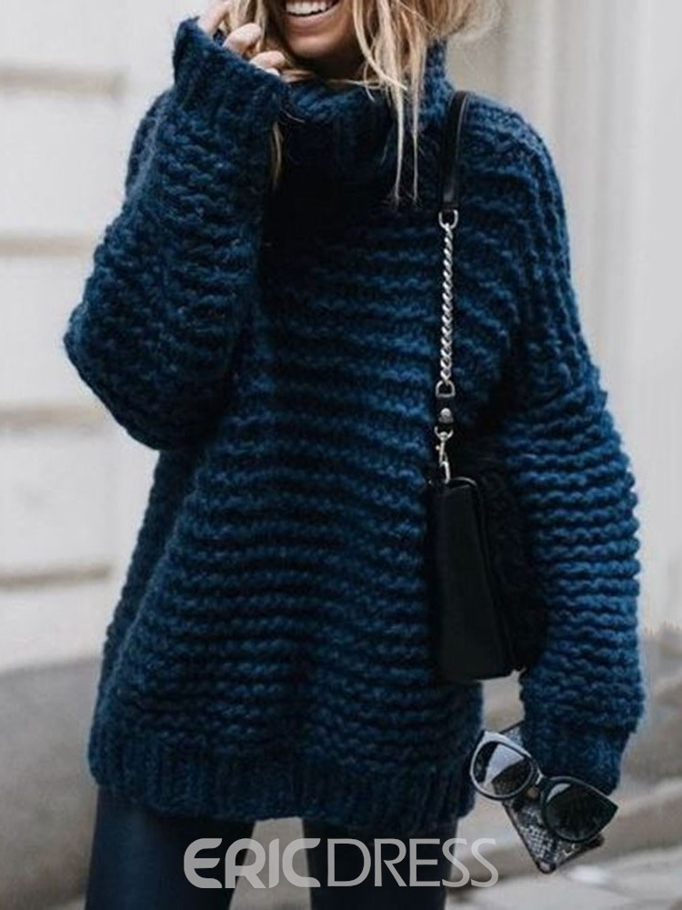 Ericdress Winter Mid-Length Sweater
