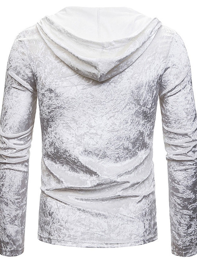 Ericdress Lace-Up Casual Hooded Slim Pullover T-shirt