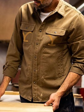 Ericdress Pocket Lapel Casual Single-Breasted Loose Shirt