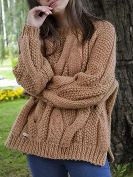 Ericdress Patchwork Thin Mid-Length Loose Sweater