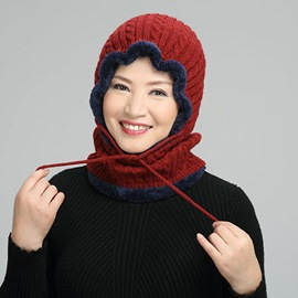Ericdress Knitted Hat Fashion Color Block Fall Hats