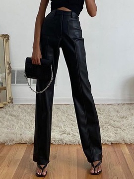 Ericdress Plain Loose Pocket Straight Full Length Casual Pants