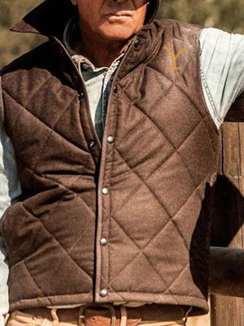 Ericdress Thick Lapel Casual Winter Waistcoat