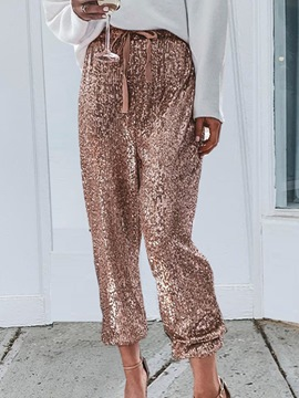Ericdress Plain Loose Sequins Pencil Pants Ankle Length Casual Pants
