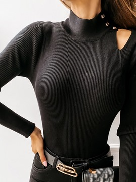 Ericdress Hollow Regular Standard Long Sleeve Sweater