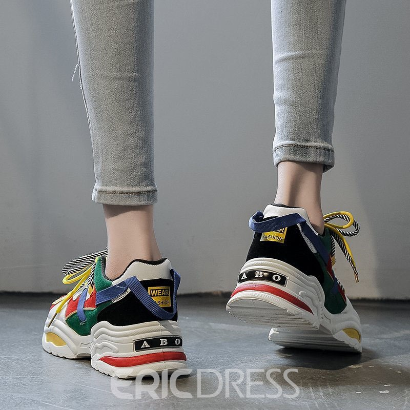 Ericdress Low-Cut Upper Lace-Up Round Toe Casual Sneakers