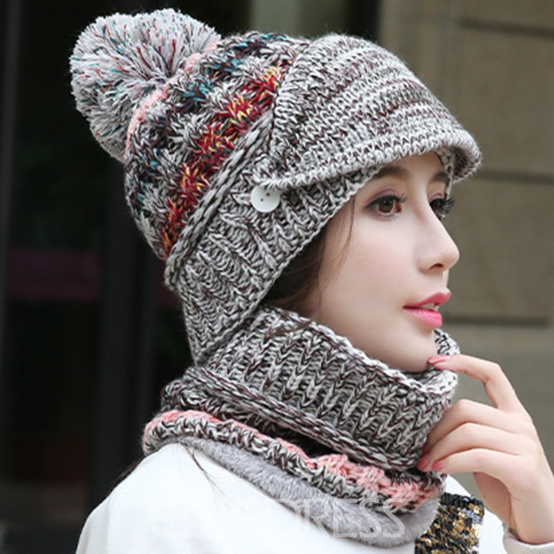 Ericdress Ladylike Woolen Yarn Color Block Scarves