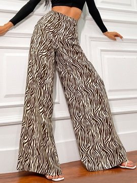 Ericdress Loose Color Block Full Length High Waist Casual Pants