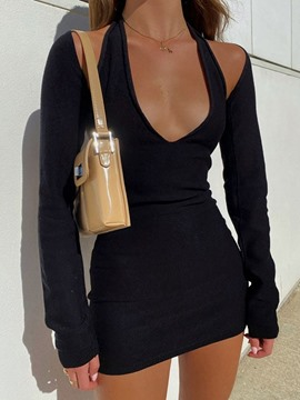 Ericdress Sleeveless Backless Above Knee All-Season Bodycon Dress