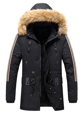 Ericdress Color Block Patchwork Mid-Length Casual Zipper Down Jacket