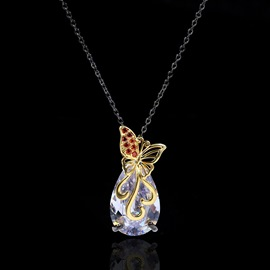 ericdress strass pendentif collier colliers femmes
